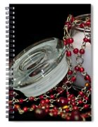 Candle And Beads Spiral Notebook