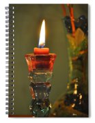 Candle And Colored Glass Spiral Notebook