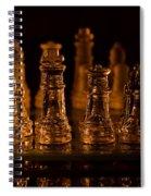 Candle Lit Chess Men Spiral Notebook