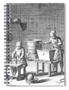 Candlemaking, 18th Century Spiral Notebook