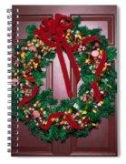 Candy Christmas Wreath Spiral Notebook