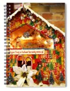 Candy Gingerbread House Spiral Notebook