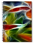 Candy Lily Fractal Panel 2 Spiral Notebook