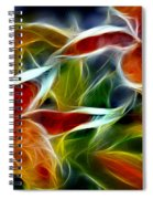 Candy Lily Fractal  Spiral Notebook