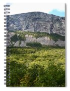 Cannon Cliff From Boise Rock New Hampshire Spiral Notebook