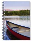 Canoe And Boya Lake At Sunset, Boya Spiral Notebook