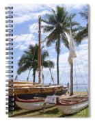 Canoes At Hui O Waa Lahaina Maui Hawaii Spiral Notebook