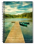 Canoes At The End Of The Dock Spiral Notebook