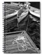 Canoes Docked At Lost Lake Spiral Notebook