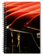Canoes Of Red Spiral Notebook