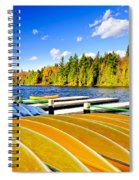 Canoes On Autumn Lake Spiral Notebook
