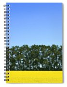 Canola Field And Trees Spiral Notebook