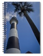 Cape Canaveral Lighthouse With Palm Tree Spiral Notebook
