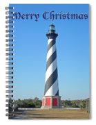 Cape Hatteras Lighthouse - Outer Banks - Christmas Card Spiral Notebook