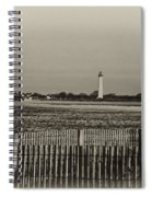 Cape May Light House In Sepia Spiral Notebook
