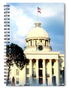 Capitol Building In Montgomery Spiral Notebook