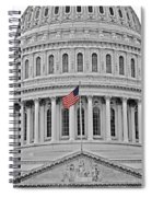 Capitol With Flag Spiral Notebook