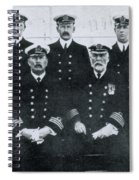Captain And Officers Of The Titanic Spiral Notebook