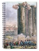 Capture Of The Bastille Spiral Notebook