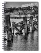 Cardiff Bay Old Jetty Supports Mono Spiral Notebook