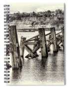 Cardiff Bay Old Jetty Supports Opal Spiral Notebook