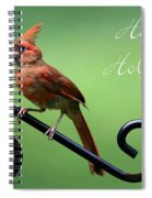 Cardinal Holiday Card Spiral Notebook