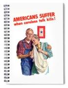 Careless Talk Kills -- Ww2 Propaganda Spiral Notebook