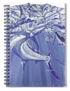 Carey Chen Mens Marlin Shirt Spiral Notebook