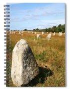 Carnac Standing Stones Spiral Notebook