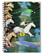 Carnival Horse Race Game Spiral Notebook