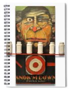 Carny With Type Poster Spiral Notebook