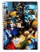 Carolers Cap Spiral Notebook