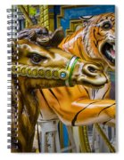 Carousal Camel And Tiger On A Merry-go-round Spiral Notebook