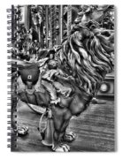 Carousel  Black And White Spiral Notebook