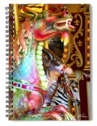 Carousel Dragon Spiral Notebook