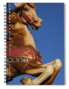 Carousel Horse Against Blue Sky Spiral Notebook