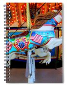 Carousel Horse With Flags Spiral Notebook