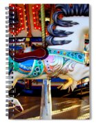 Carousel Horse With Leaves Spiral Notebook
