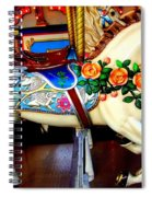 Carousel Horse With Roses Spiral Notebook
