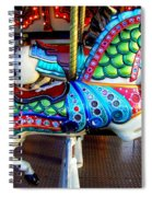 Carousel Horse With Sea Motif Spiral Notebook