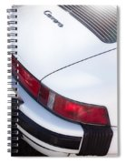 Carrera Porsche White Backend  Spiral Notebook