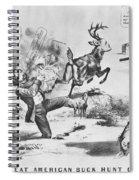 Cartoon: Election Of 1856 Spiral Notebook