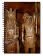 Carved American Indians Spiral Notebook