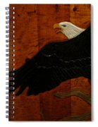 Carved Eagle Spiral Notebook