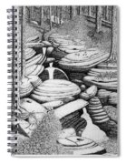 Cascade In Boulders Spiral Notebook