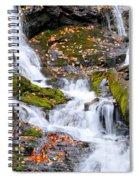 Cascades At Mingo Falls Spiral Notebook
