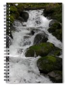 Cascades Below Spiral Notebook