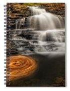 Cascading Swirls Spiral Notebook