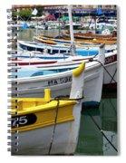 Cassis Boats Spiral Notebook