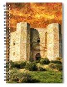 Castel Del Monte Spiral Notebook